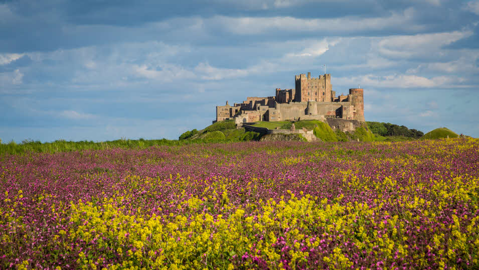 Northumberland Bamburgh Castle, near our caravan site