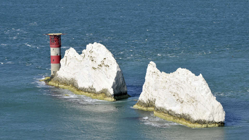 The needles off the coast of Isle of Wight
