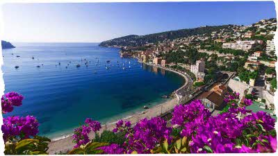 Beautiful blue sea of the Cote d'Azur