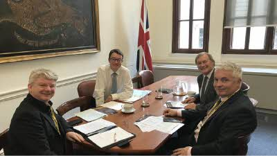 Club meeting with HM Treasury about VED for motorhomes, October 2019