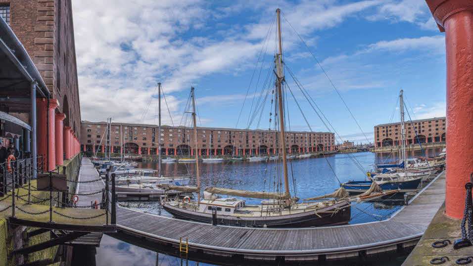 The Royal Albert Dock in Liverpool, Merseyside