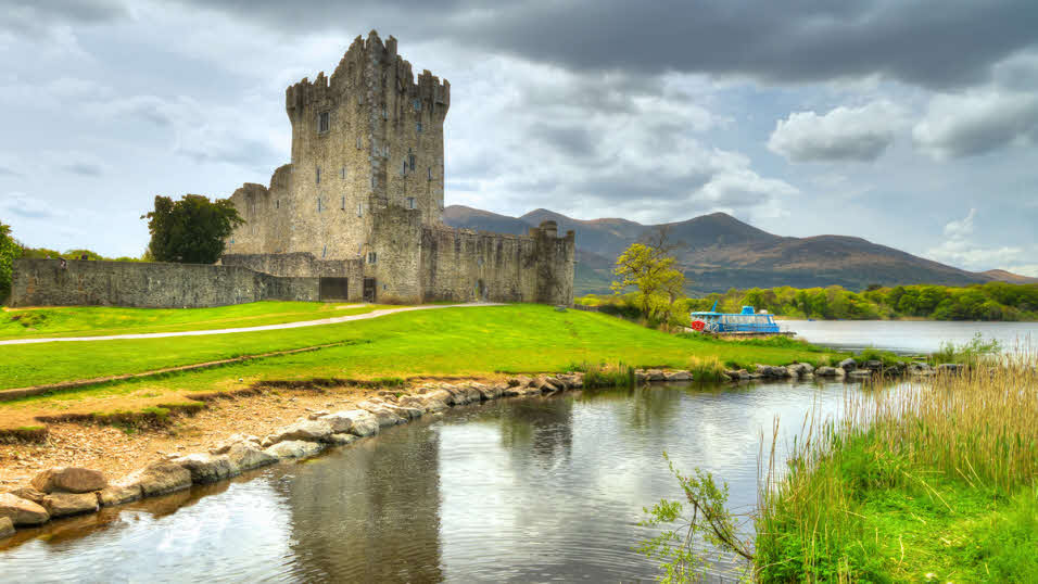 Ross Castle in County Kerry in Ireland