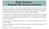 Caravan insurance documents