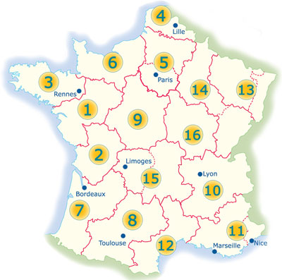 Find a campsite in the regions of France