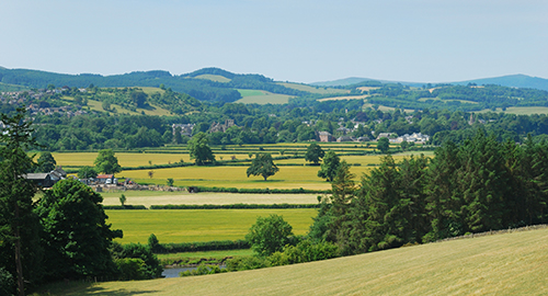 View to Melrose, Scottish Borders