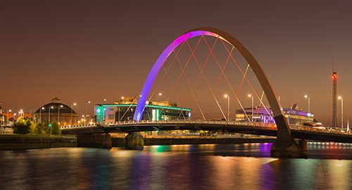 Clyde Arc Bridge, Glasgow City Centre